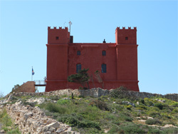 De red tower